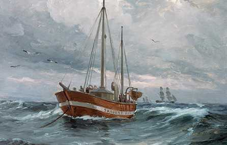 A boat at the Skagen reef